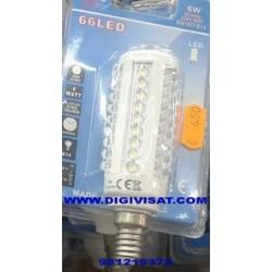 bombilla led E14-230V-6W-66 led