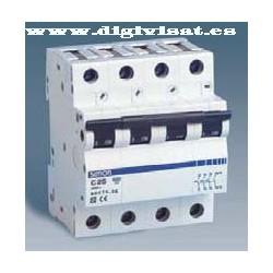 Interruptor magnetotermico  tetrapolar Simon 6KA 10A